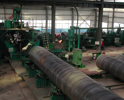 Front Swing Spiral Welded Pipe Mill 1