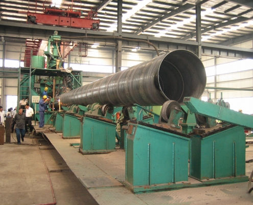 Front Swing Spiral Welded Pipe Mill 5